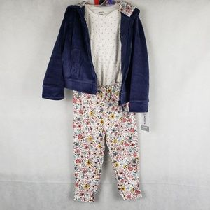 NWT Carters 3 PC Micro Set Girl Size 24m